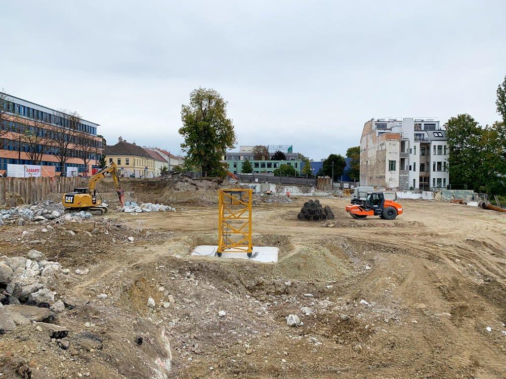 Baubeginn in Penzing