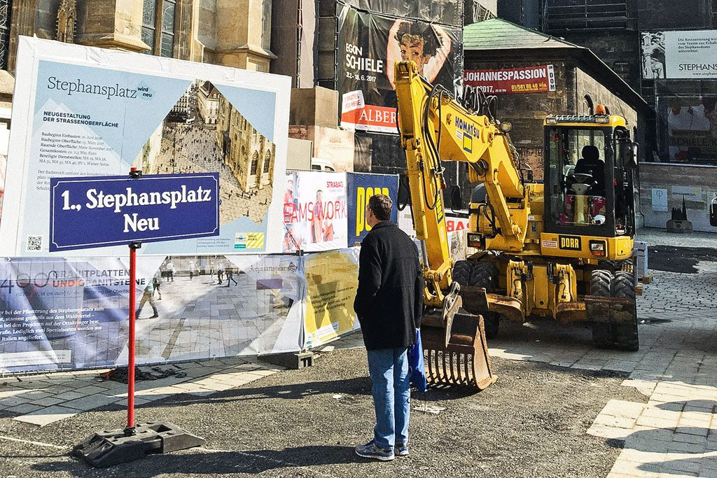 Start of Construction Stephansplatz