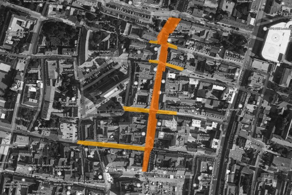 Fußgängerzone <br>Wiener Neustadt