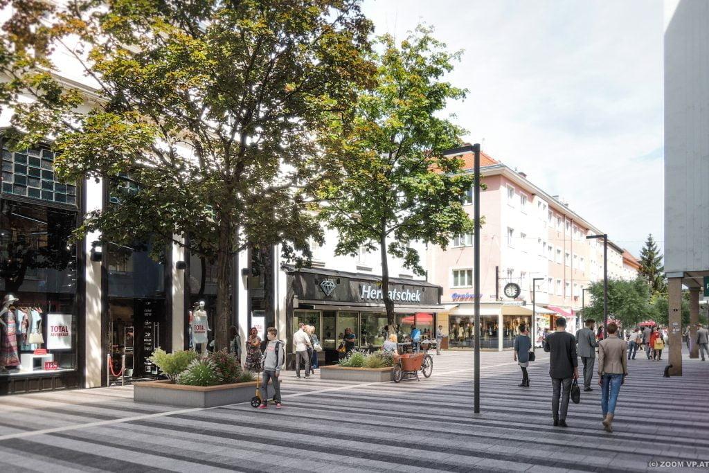 Pedestrian Zone <br>Wiener Straße